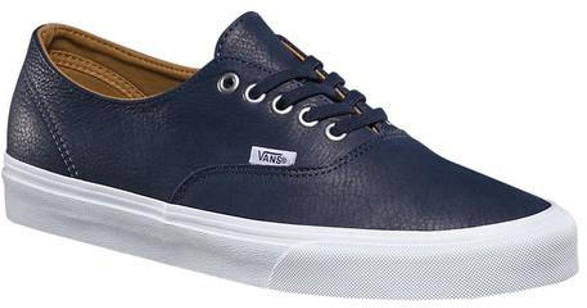 e56cab1fbb Lyst - Vans Unisex Premium Leather Authentic Decon in Blue for Men