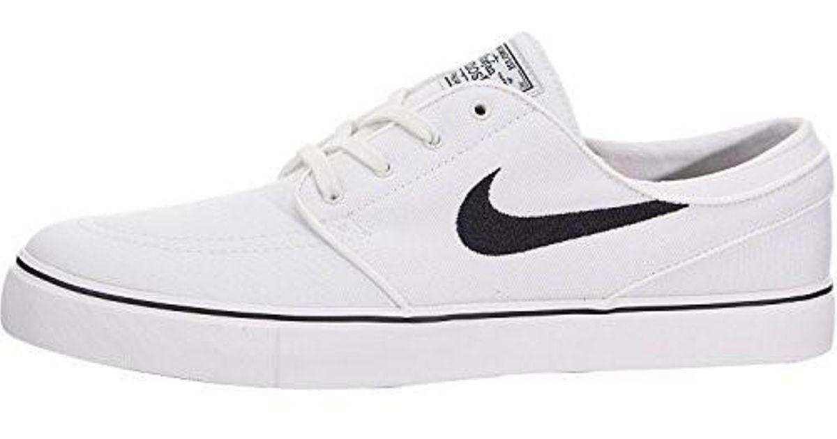 e0e824ade0c2 Lyst - Nike Zoom Stefan Janoski Cnvs Summit White black Skate Shoe 10 in  White for Men