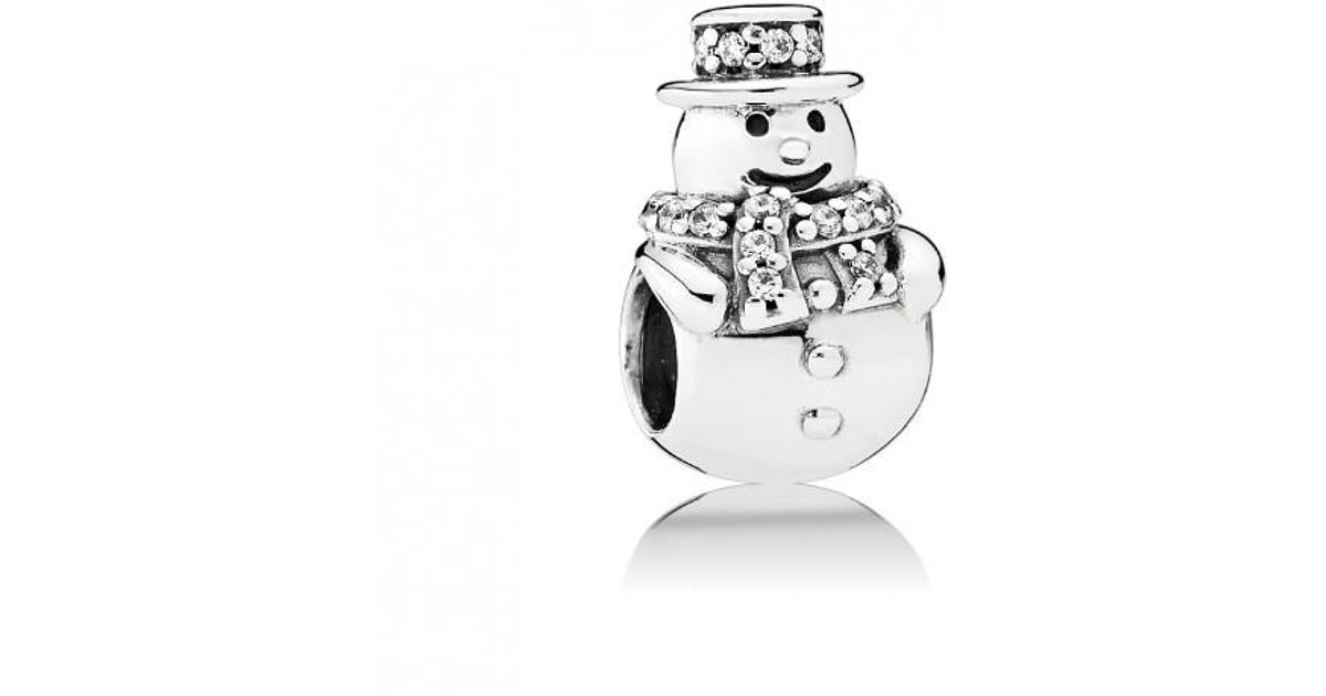 3e73f3b84 PANDORA Silver Cz Snowman Charm - Save 56% - Lyst