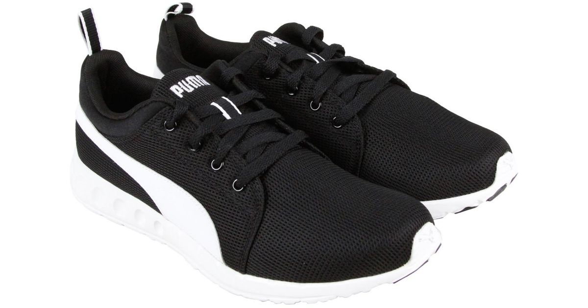 696fc8ae9bc Lyst - PUMA Carson Runner Black White Mens Athletic Running Shoes in Black  for Men