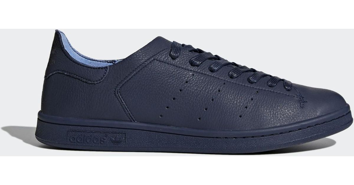 sports shoes a79c7 2d548 Lyst - adidas Originals Stan Smith Leather Sock Shoes in Blue for Men
