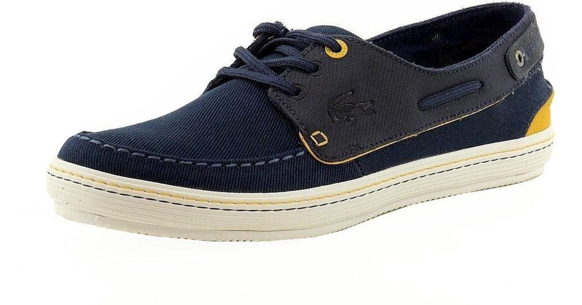 965660f8c2ce39 Lyst - Lacoste Sumac 10 Lace Up Fashion Sneaker Boat Shoe - - - 9.5 in Blue  for Men