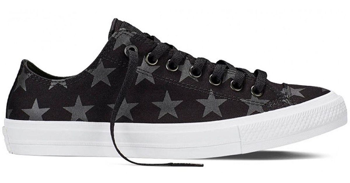 7316956e3909dd Lyst - Converse Chuck Taylor All Star Ii Ox Black white 151161c-001  (size 8) in Black for Men