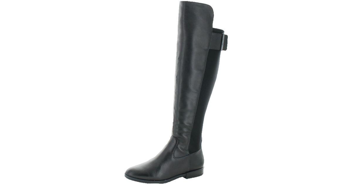 098ca1cb83e Lyst - Calvin Klein Priya Cow Silk neoprene Over-the-knee Tall Riding Boot  Shoe in Black