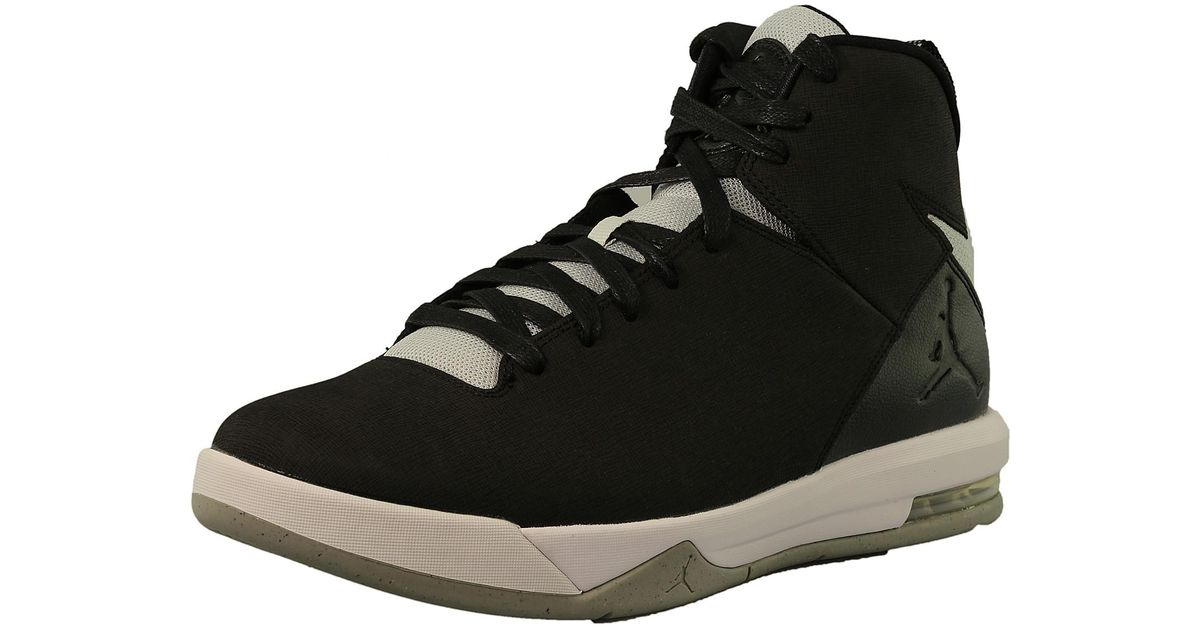 outlet store 4382e 51fa3 Nike Jordan Air Imminent Black grey Mist-white Ankle-high Leather  Basketball Shoe in Black for Men - Lyst
