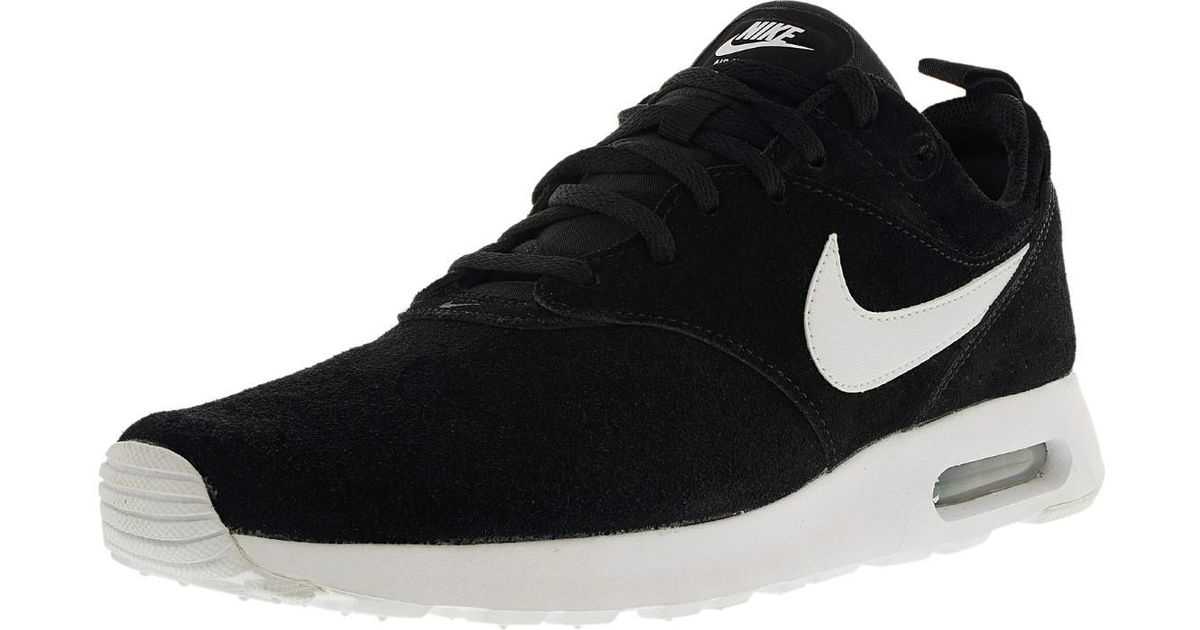 the best attitude b011a d2101 ... reduced lyst nike air max tavas ltr ankle high leather fashion sneaker  11m in black for