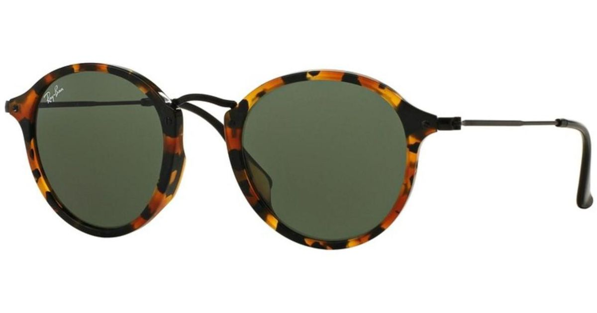 38b02bf5b12e0 Lyst - Ray-Ban Sunglasses Rb 2447f 1157 Spotted Black Havana in Green
