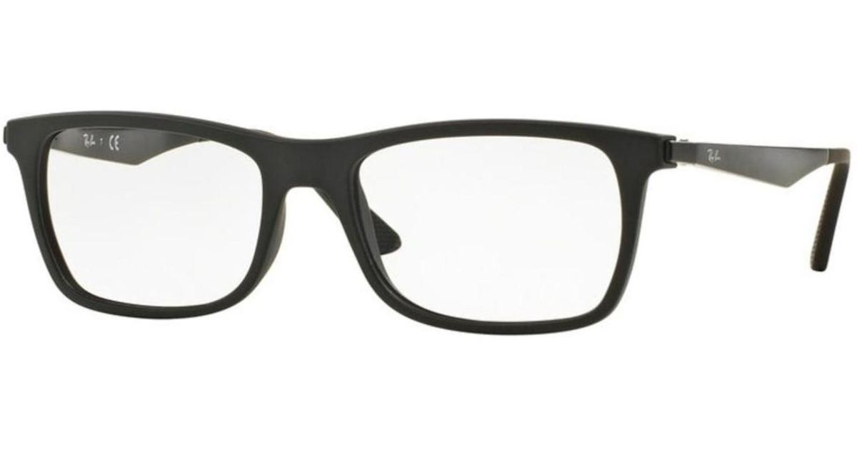 d74faa27cbc ... italy lyst ray ban eyeglasses optical rx 7062 2077 matte black in black  3f8e8 38050