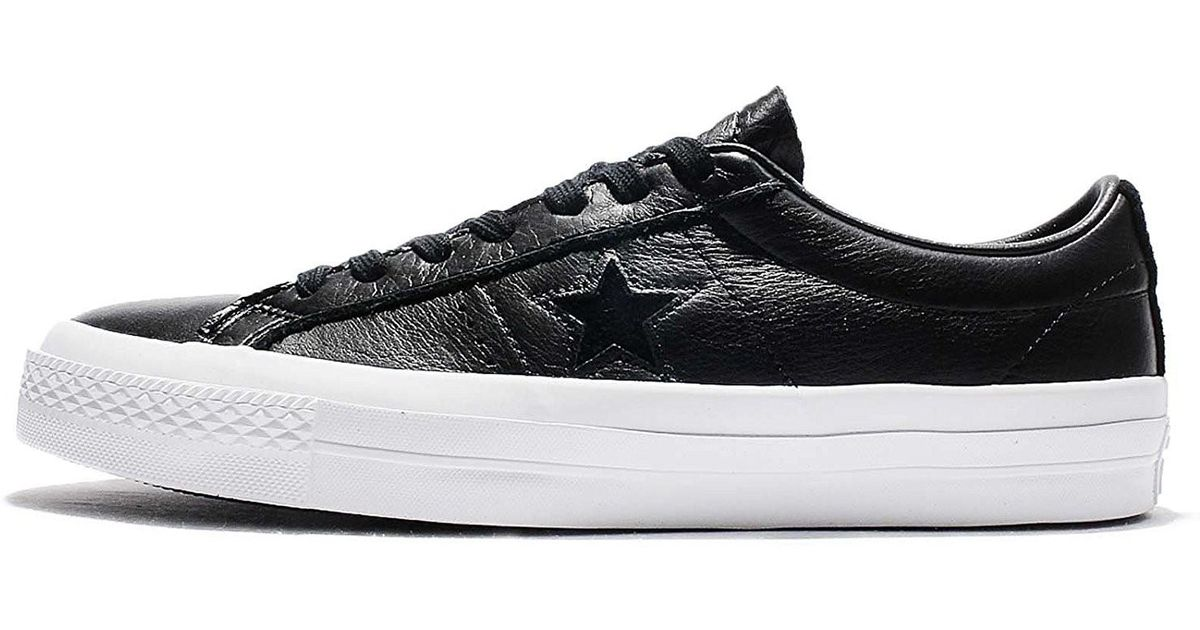 ffeb2c9d6c71 Lyst - Converse 155548c  One Star Ox Black White Black Leather Shoe (black  in Black for Men