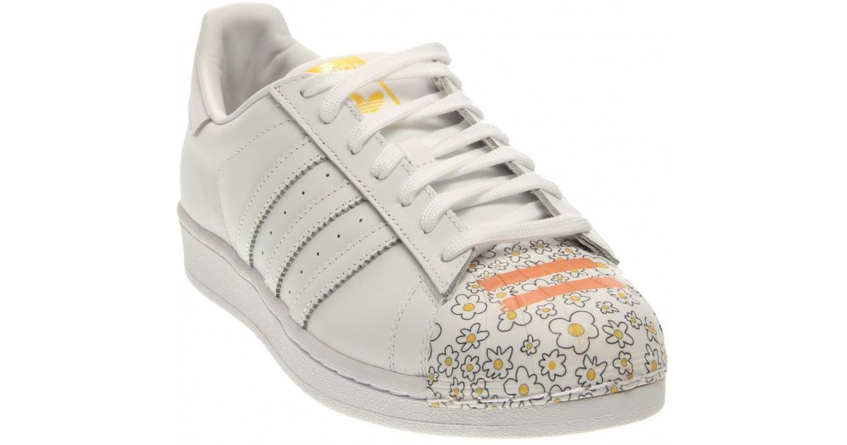 hot sales 631ac 5a9f5 adidas X Pharrell Williams Superstar Supershell Sneakers Shoes in White -  Lyst