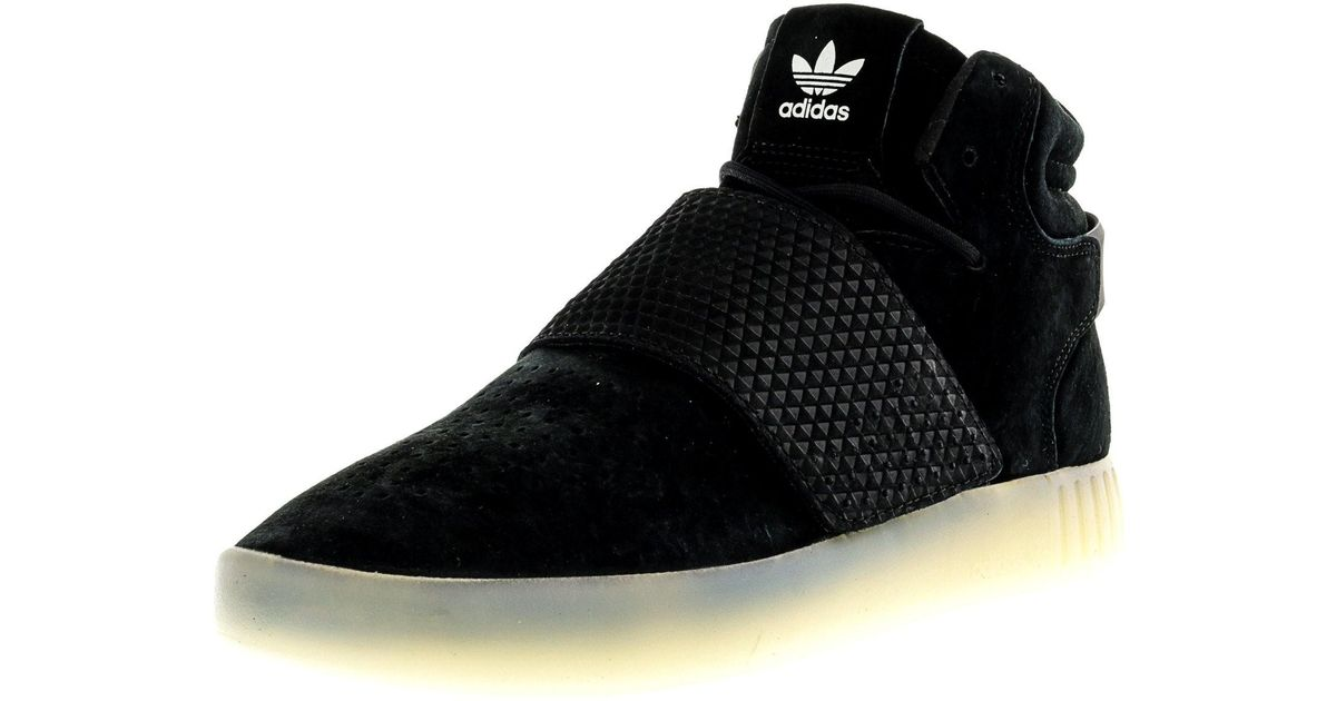 54c88e285daa82 Lyst - adidas Tubular Invader Strap Core Black   Vintage White High-top  Leather Basketball Shoe - 11m in Black for Men