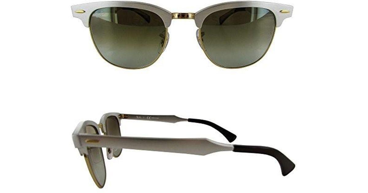 9f0124656e9 Lyst - Ray-Ban Clubmaster Aluminum Flash Lenses Gradient Sunglasses