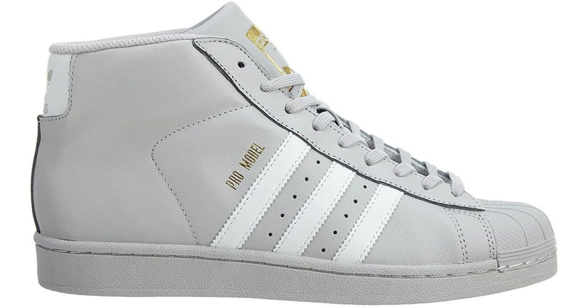 56f1f5ad3c6c ... inexpensive lyst adidas pro model basketball shoes 10 grey in gray for  men 64d04 032c9