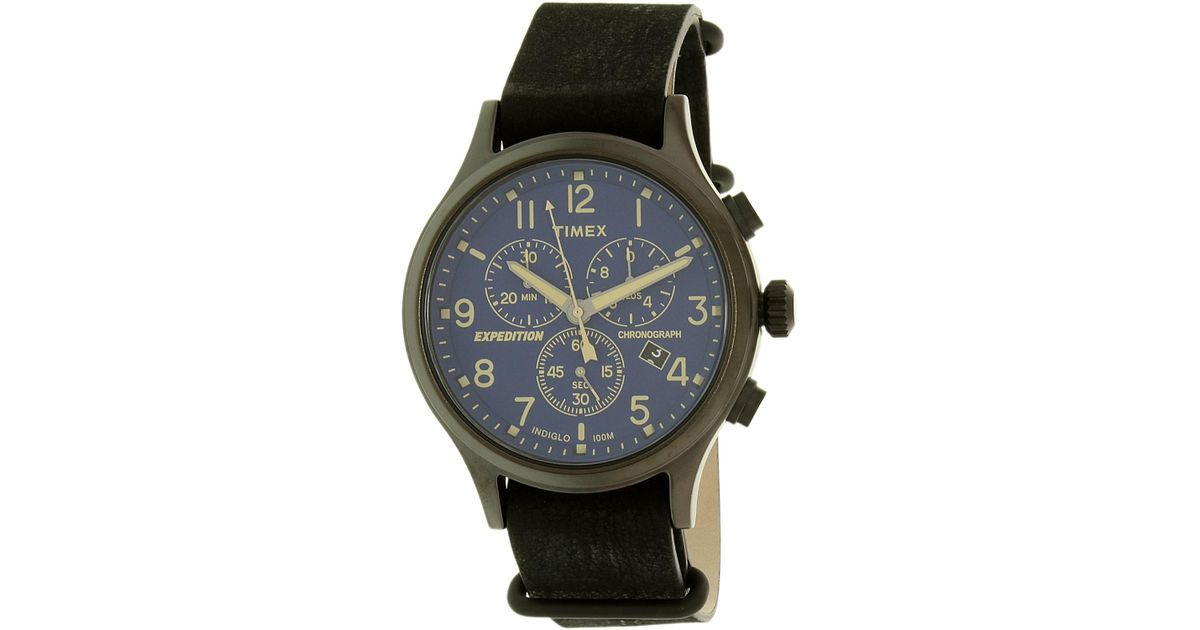 5d86abef6 Lyst - Timex Expedition Scout Chrono Watch in Black for Men