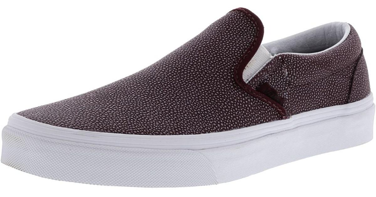 66eeda3180 Lyst - Vans Classic Slip-on Embossed Stingray Ankle-high Leather Shoes - 8m    6.5m in Purple for Men