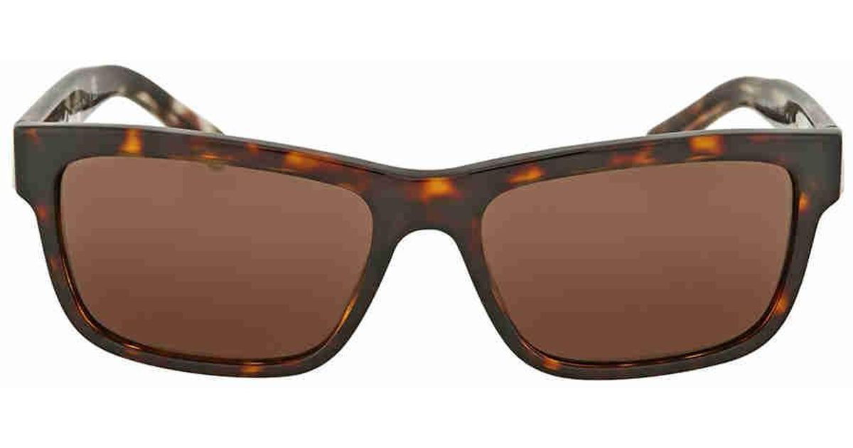 ec1e8738141a Lyst - Burberry Dark Havana Rectangular Sunglasses in Brown
