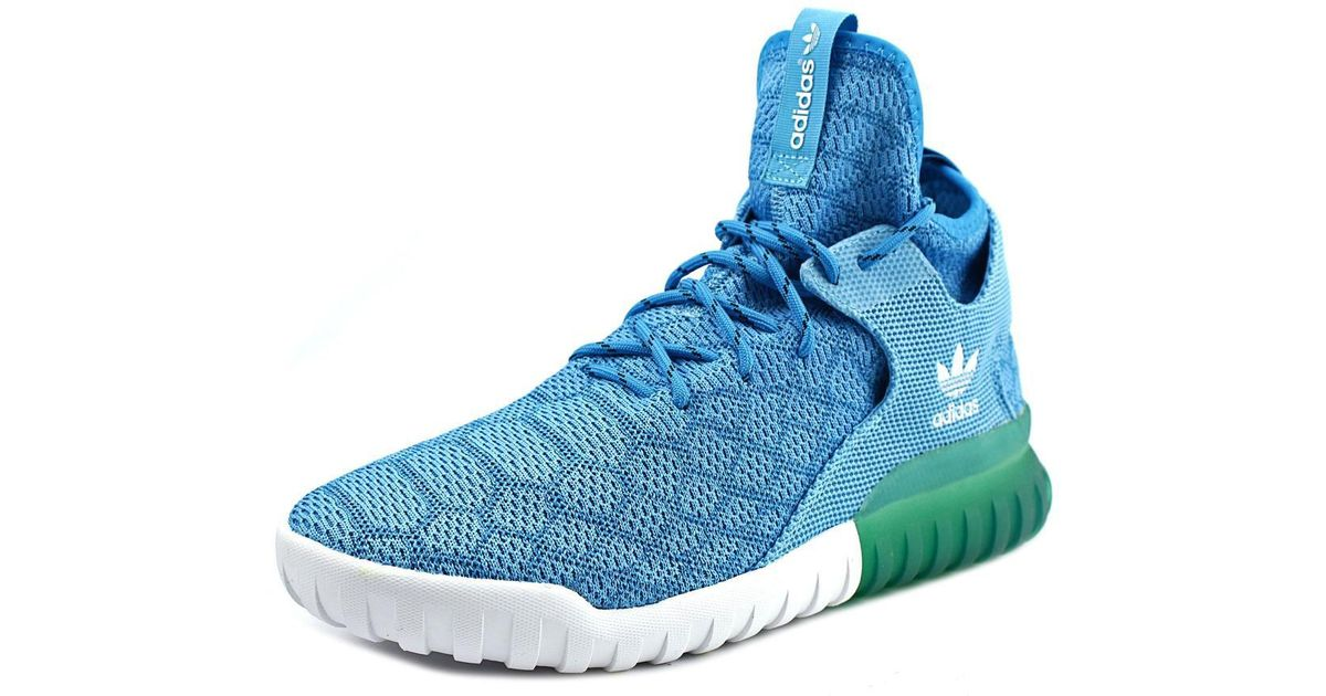 f692c46338fa Lyst - Adidas Tubular X Prime Knit Men Us 10 Blue Sneakers in Blue for Men