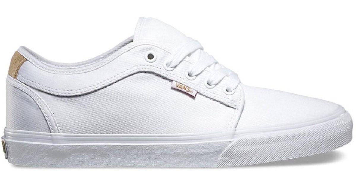 e3706c72ff0ef8 Lyst - Vans Chukka Low Aloha White Twill Skateboard Shoes-men 10.0 in White  for Men
