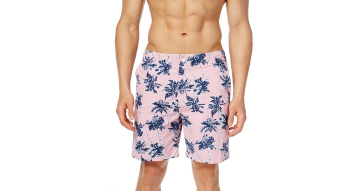 666df179569c7 Tommy Hilfiger Pink Palm Tree Printed Mens Size Xl Swim Trunks in Blue for  Men - Lyst