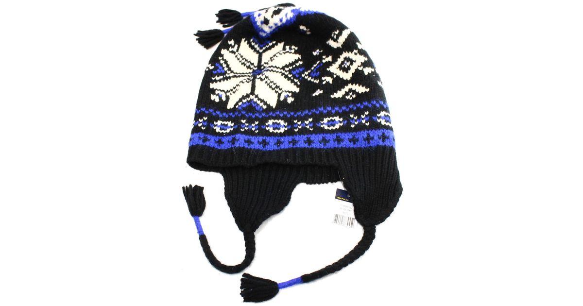 ebbdb83dd4383 Polo Ralph Lauren Mens Wool Fair Isle Winter Hat in Blue for Men - Lyst