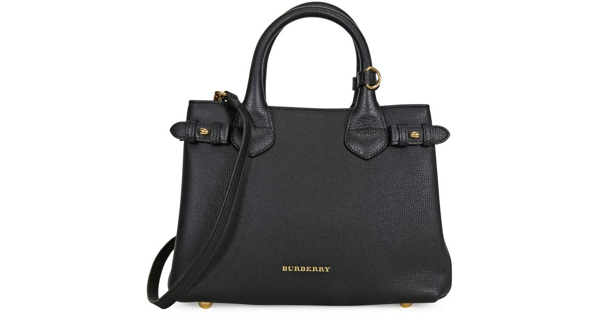 a998875019f4 Lyst - Burberry Small Banner House Check Derby Tote in Black