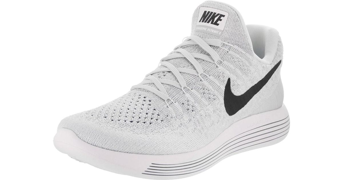 aab6811ba0e3 Lyst - Nike Lunarepic Low Flyknit 2 Running Shoe 8.5 Us in White for Men