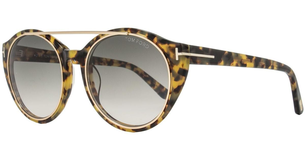 53447af327 Tom Ford Ft0383 Joan Sunglasses Yellow Tortoise brown Gradient - Lyst