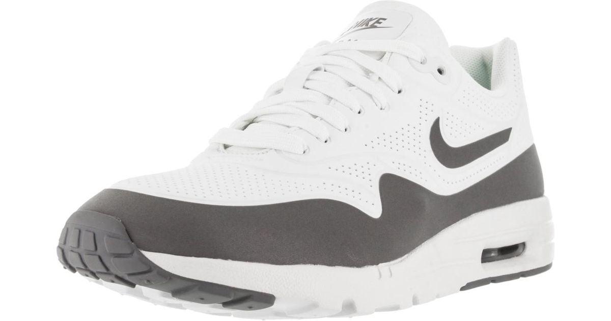 Nike Air Max 1 Ultra Moire Summit Whitecl Greymtllc Slverwht Running Shoe 8 Women Us Lyst