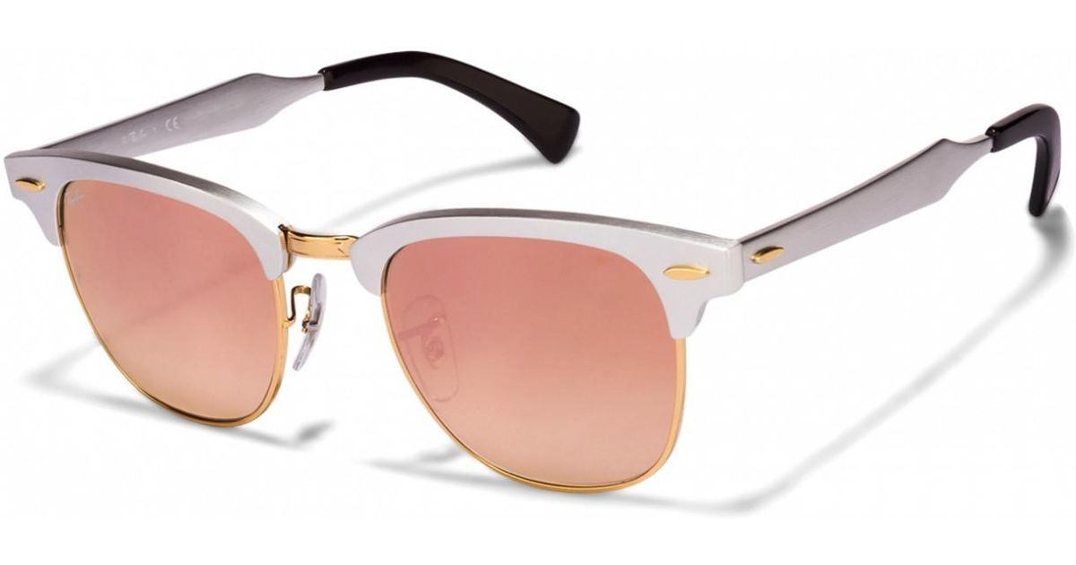 1cdd781e92 ... get lyst ray ban 0rb3507 137 7o 49 brusched silver copper flash  gradient clubmaster aluminum icons