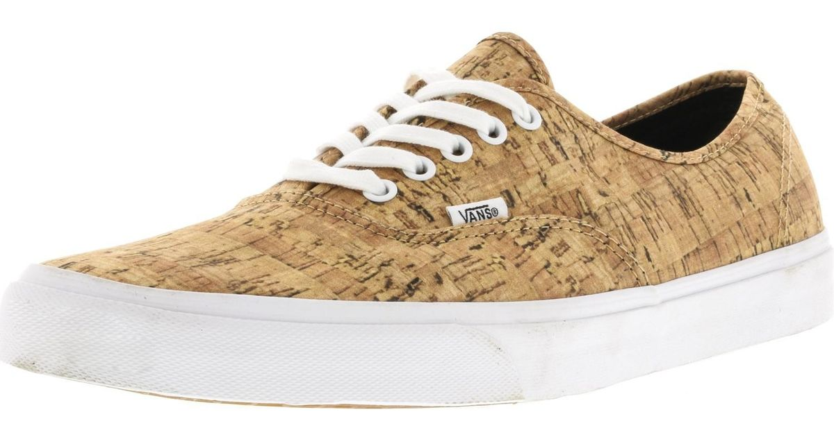 Lyst - Vans Unisex Authentic Cork Sneakers Tantruewhite M11 W12.5 in Brown  for Men dd39993f995d