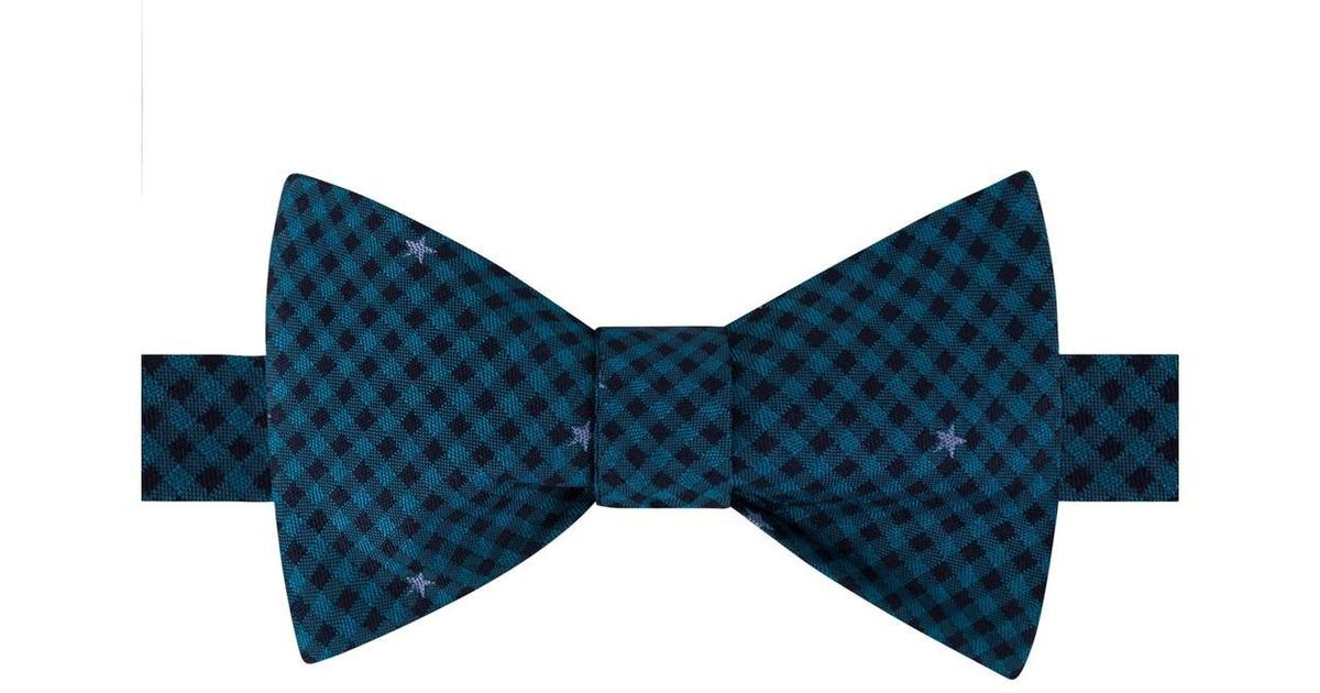 4d7343c11d18 Lyst - Tommy Hilfiger Silk Star Print Bow Tie in Blue for Men