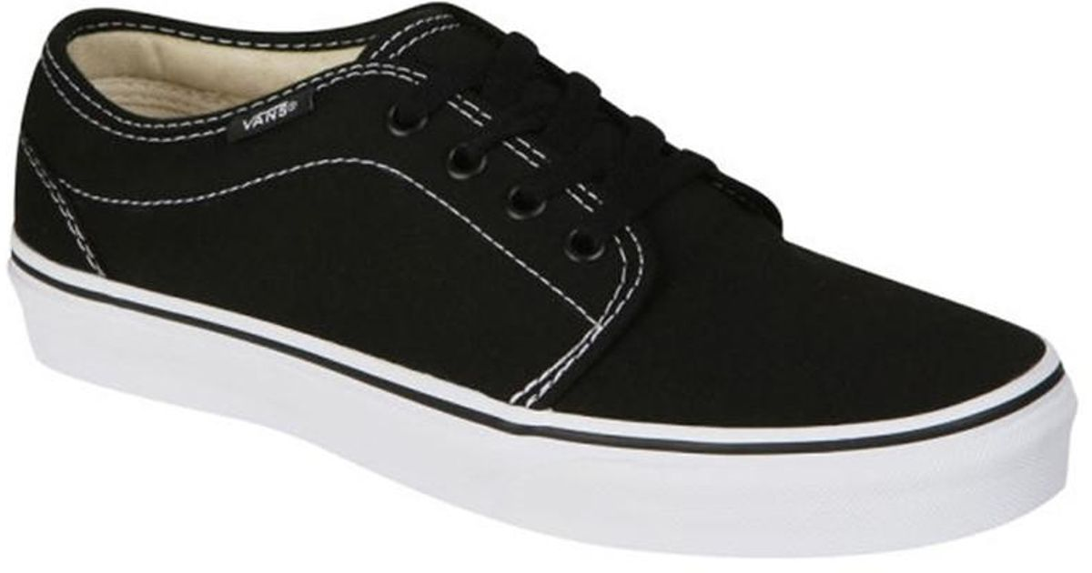 0a92b1bed9 Lyst - Vans Unisex 106 Vulcanized Sneakers Blackwhite M3.5 W5 in Black for  Men