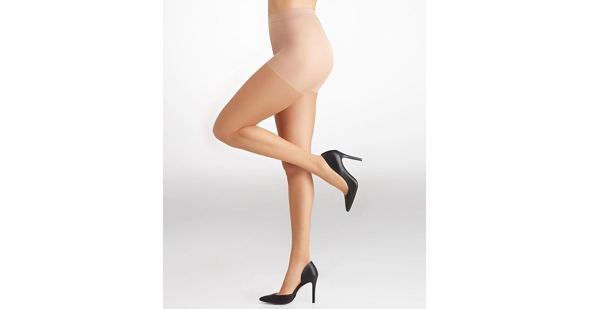 09f55ef95cd6a Lyst - Calvin Klein Ultra Bare Perfect Control Top Pantyhose in Natural