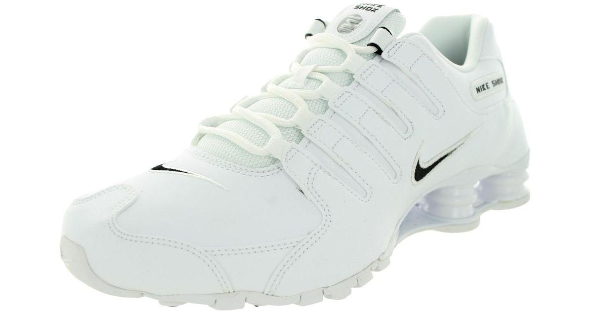 Lyst - Nike Shox Nz Eu White black white Running Shoe 14 Men Us in White  for Men c039c0a52