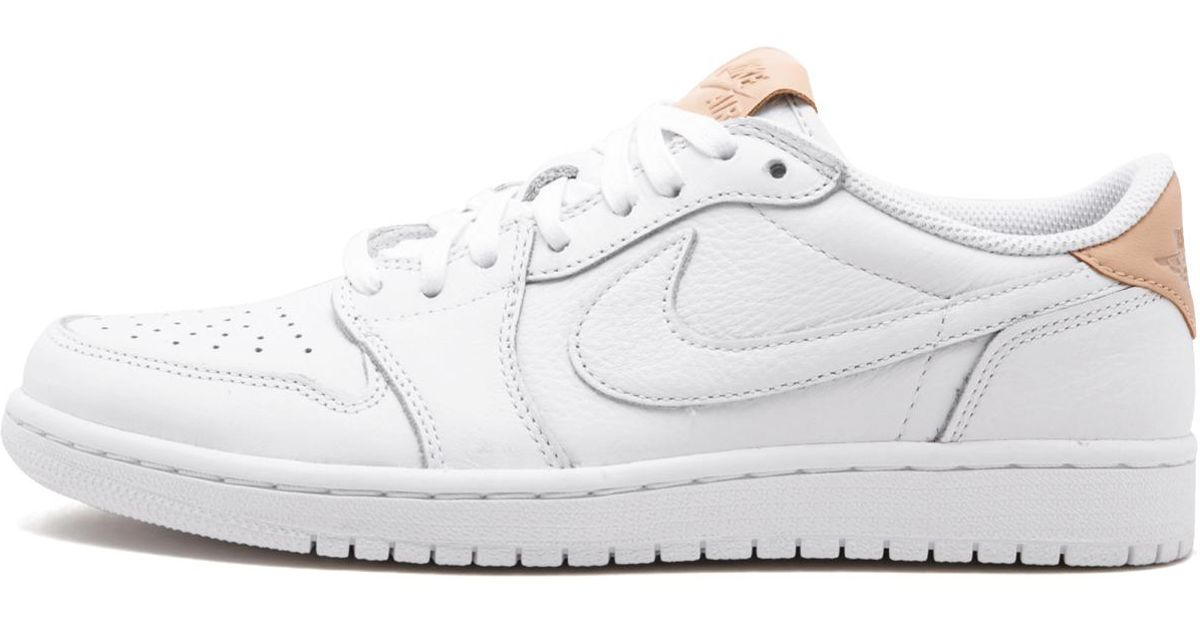 10aa0a2ae8a561 Lyst - Nike Air Jordan 1 Retro Low Og Premium White vachetta Tan-white  905136-100 in White