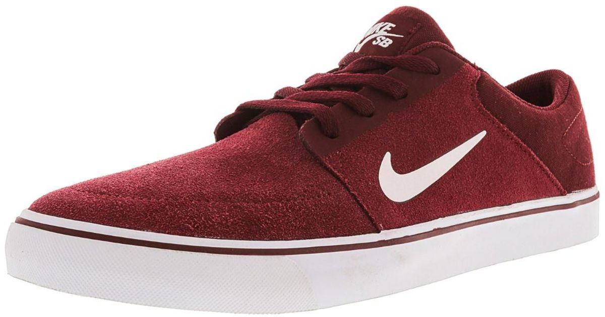 149c7e0a3125 Lyst - Nike Sb Portmore Ankle-high Skateboarding Shoe - 10.5m in Red for Men