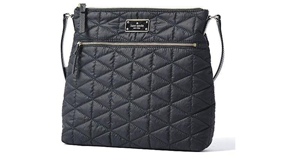 Lyst - Kate Spade Keisha Blake Avenue Quilted Crossbody Shoulder Bag in  Black 18620e70a421f