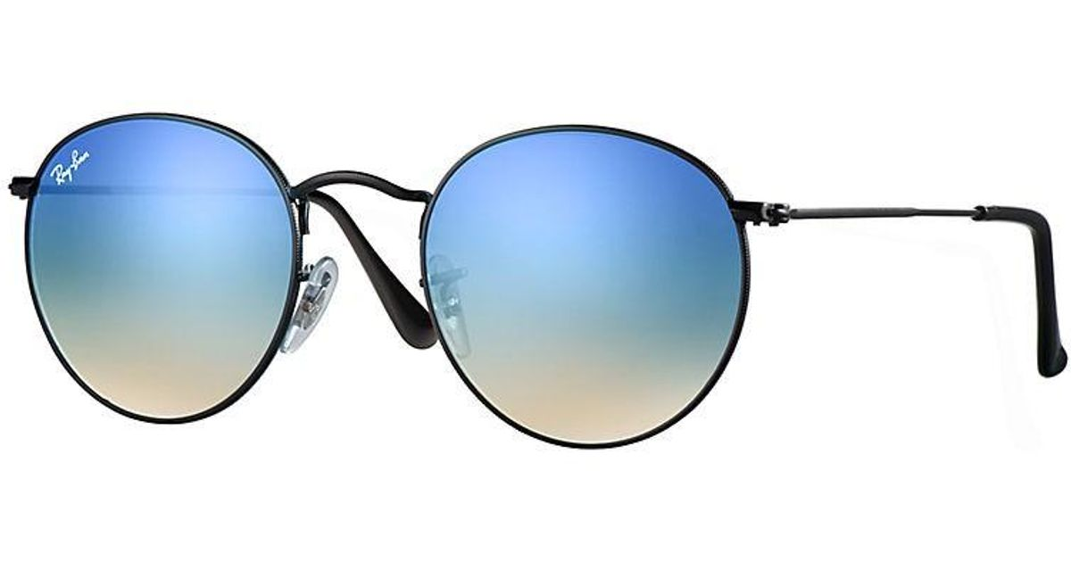 8a40b10a966 Lyst - Ray-Ban Rb3447 Icon Round in Blue