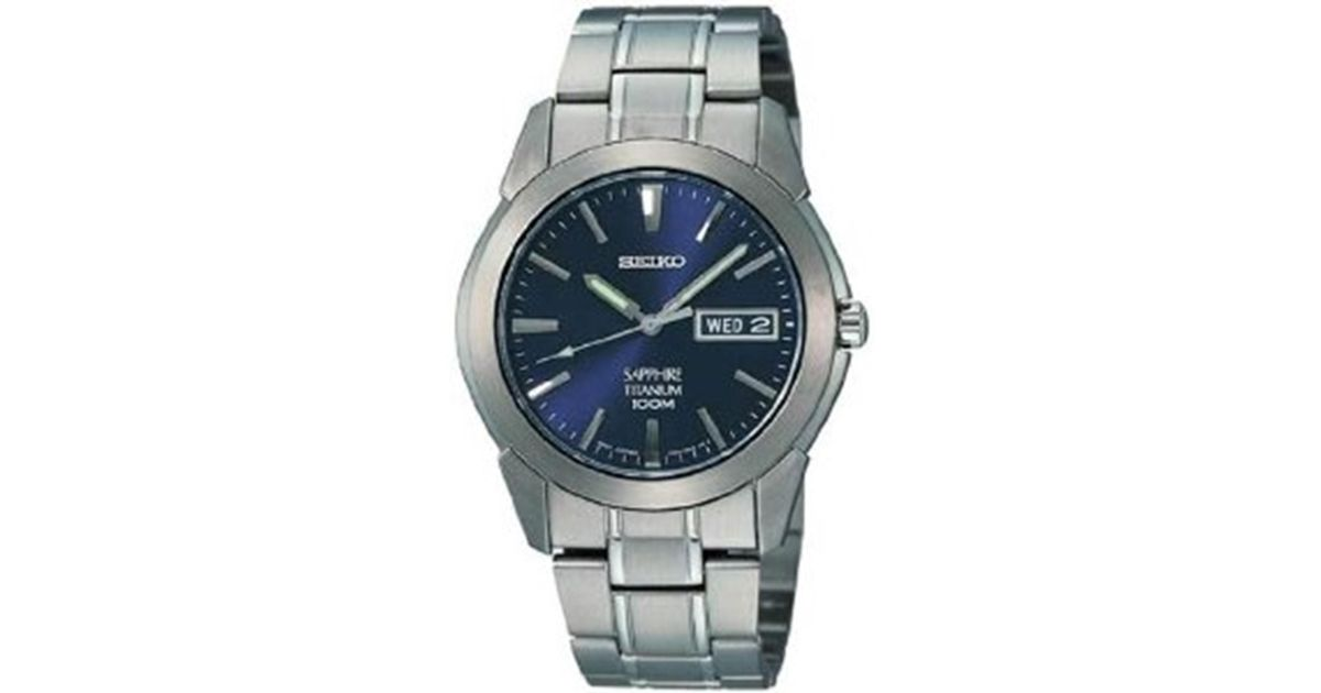 watch dial views seiko p titanium watches alternative quartz and with date day black htm