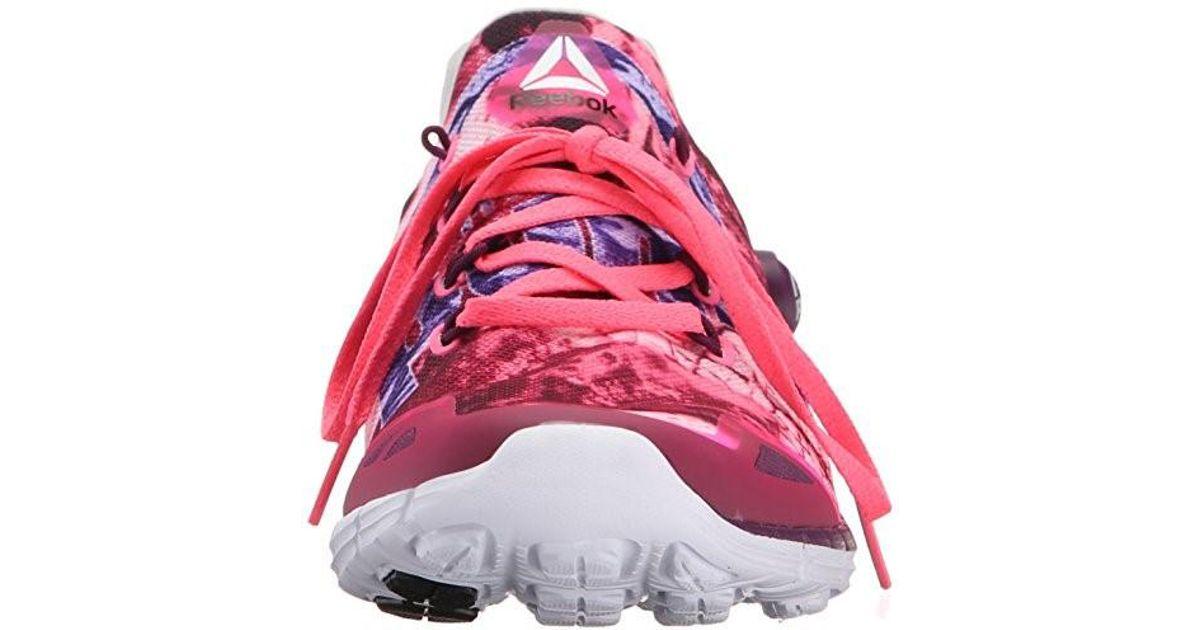 Lyst - Reebok Zpump Fusion 2.0 Dunes Running Shoe in Pink 086071913