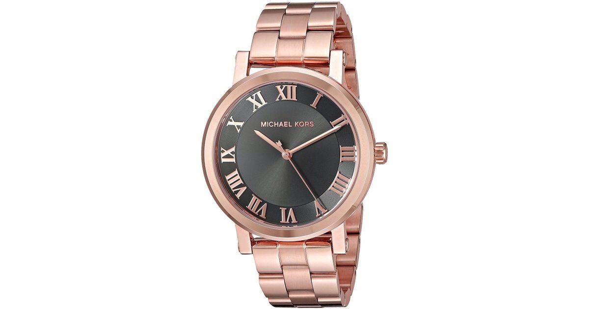 c2b38ed86018 Lyst - Michael Kors Original Mk3585 Norie Rose Gold Stainless Steel Watch  39mm in Metallic