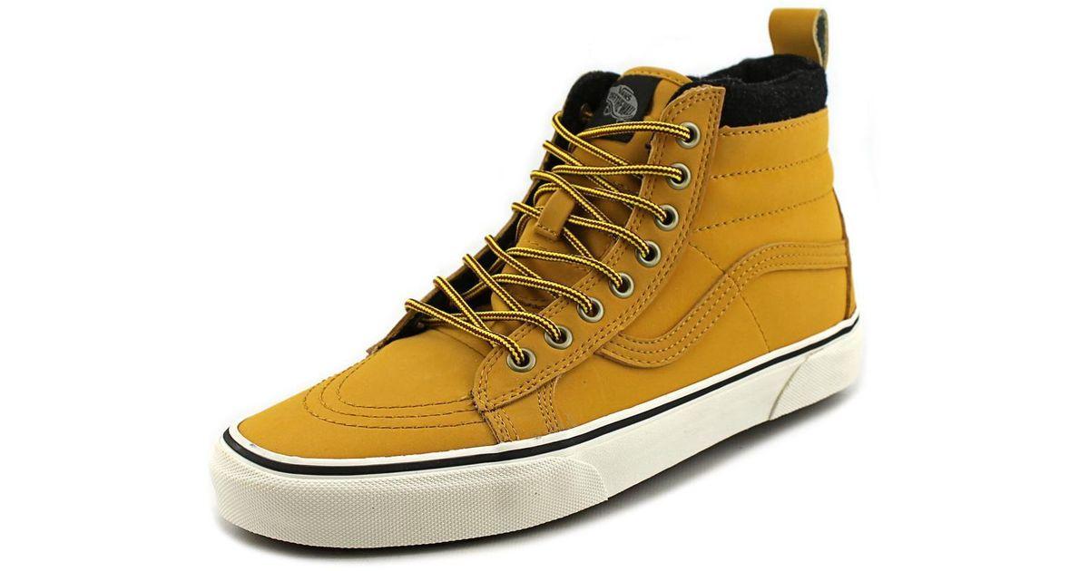 8e676ff99f632 Vans Unisex Sk8-hi Mte (mte) Honey/leather Skate Shoe 8 Men Us / 9.5 Women  Us for Men - Lyst