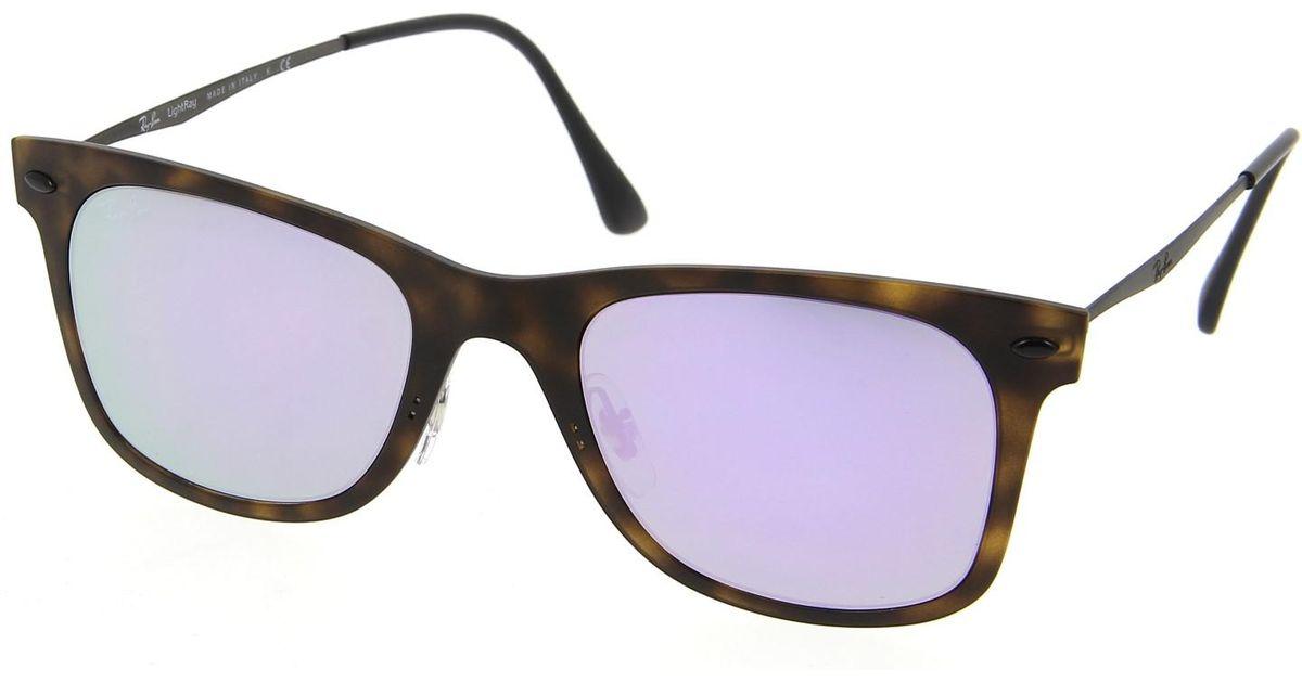 1a865e01010f9 ... purchase lyst ray ban 0rb4210 62444v 50 matte havana lilac flash tech  sunglasses f986a 0ff03 ...