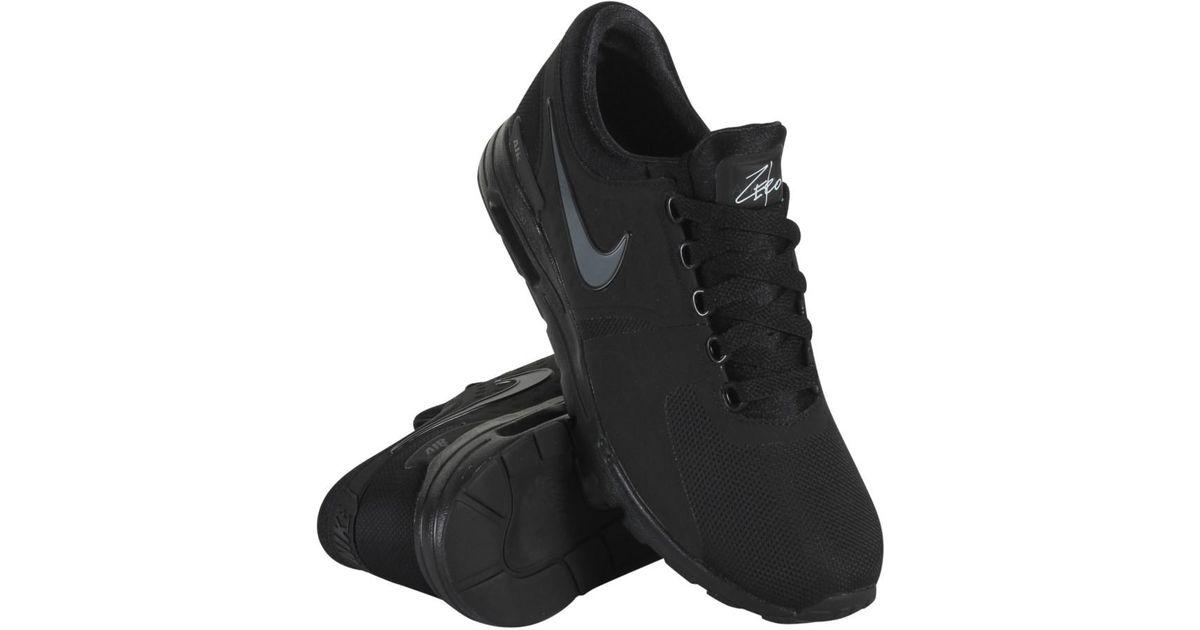 best sneakers 83cc2 215e3 Nike 857661-012 Women W Air Max Zero Black Dark Grey White in Black - Lyst