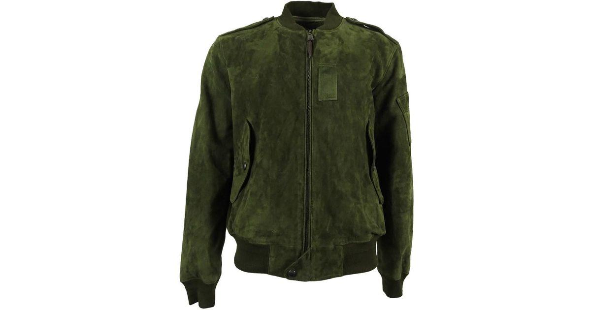 Jacket Lyst Polo For Lauren Bomber Ralph Green Suede Men QoedCBrxW