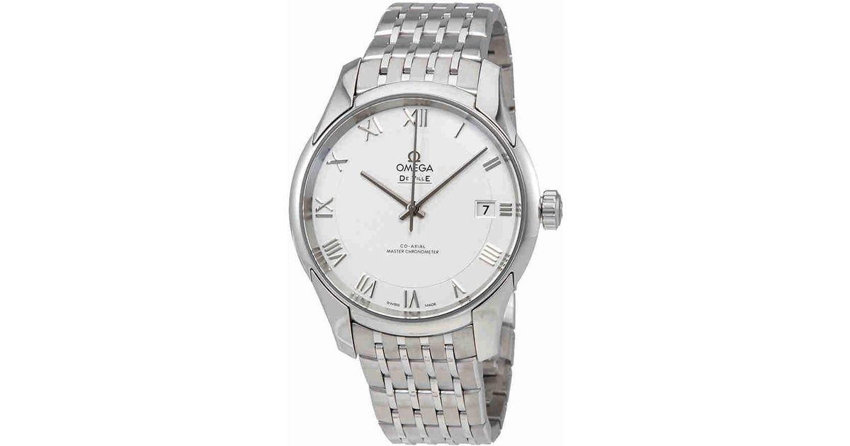 e1e2dcd424210 Lyst - Omega De Ville Hour Vision White Dial Stainless Steel Automatic Watch  43310412102001 in Metallic for Men