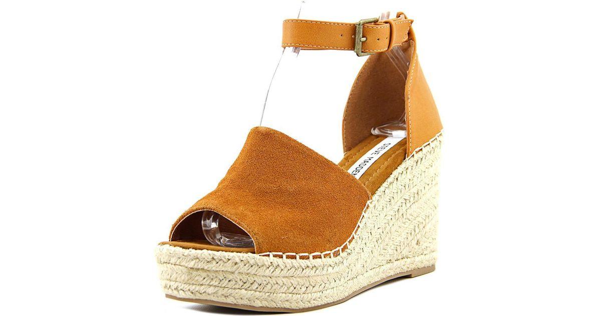 021ab7b359f Lyst - Steve Madden Jaylen Women Us 6.5 Brown Wedge Sandal in Brown