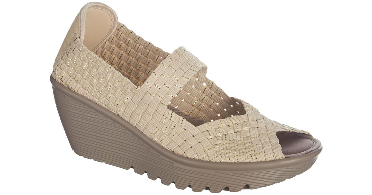 46fce62c285 Lyst - Skechers Parallel Wedge Sandals in Natural