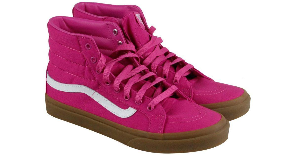 749b3a7103b7 Lyst - Vans Sk8-hi Slim Light Gum Raspberry Rose High Top Sneakers in Pink  for Men
