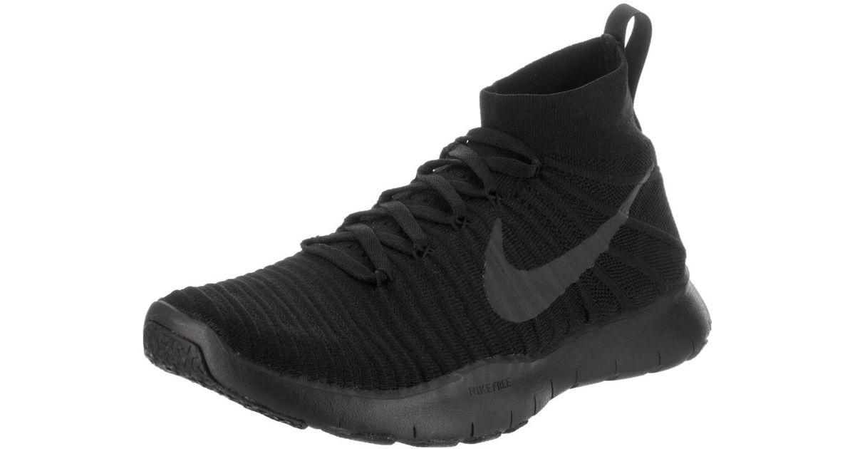 detailed look cb0e7 d067a Lyst - Nike Free Train Force Flyknit Black black black Training Shoe 10.5  Men Us in Black for Men